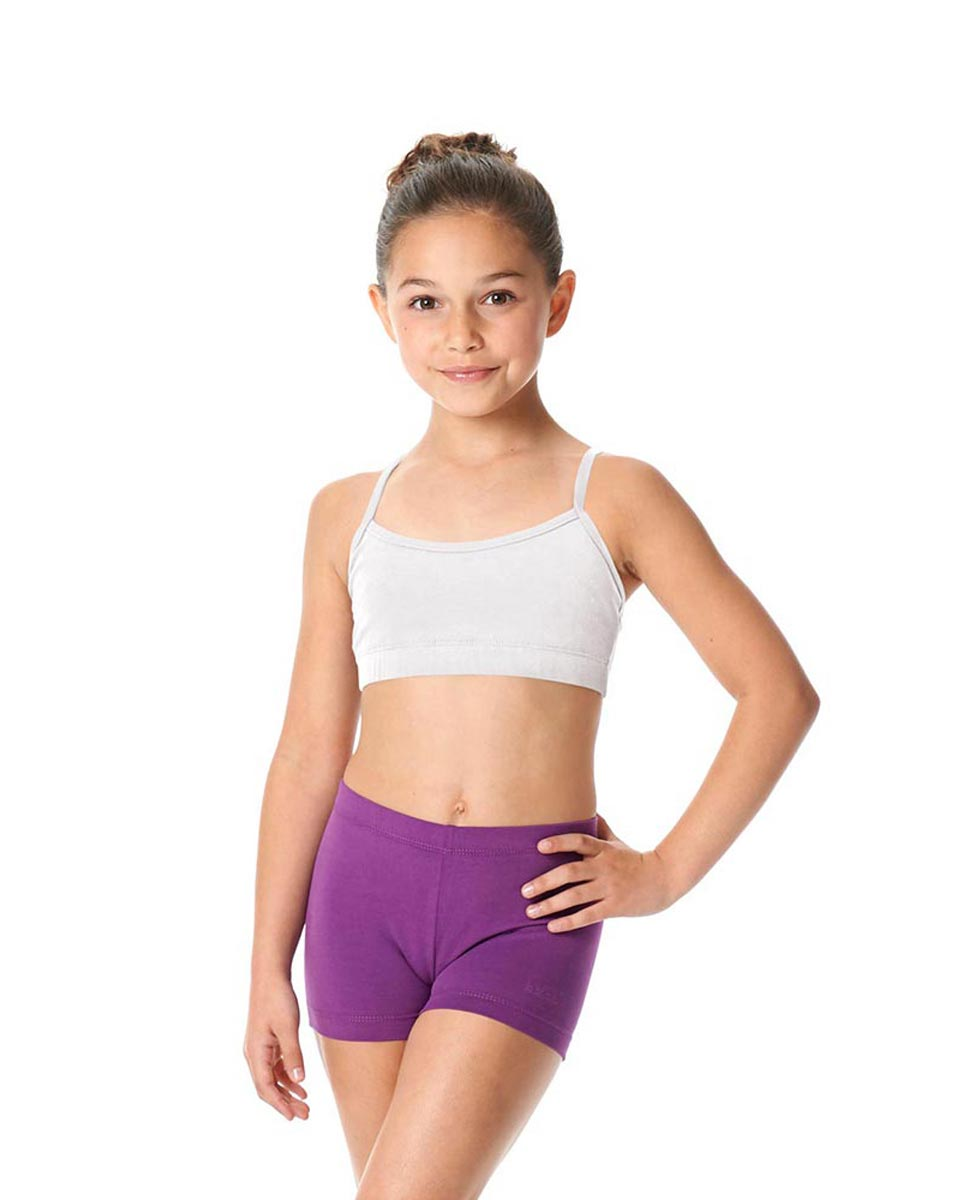 Girls Brushed Cotton Camisole Dance Bra Top Evelin WHI