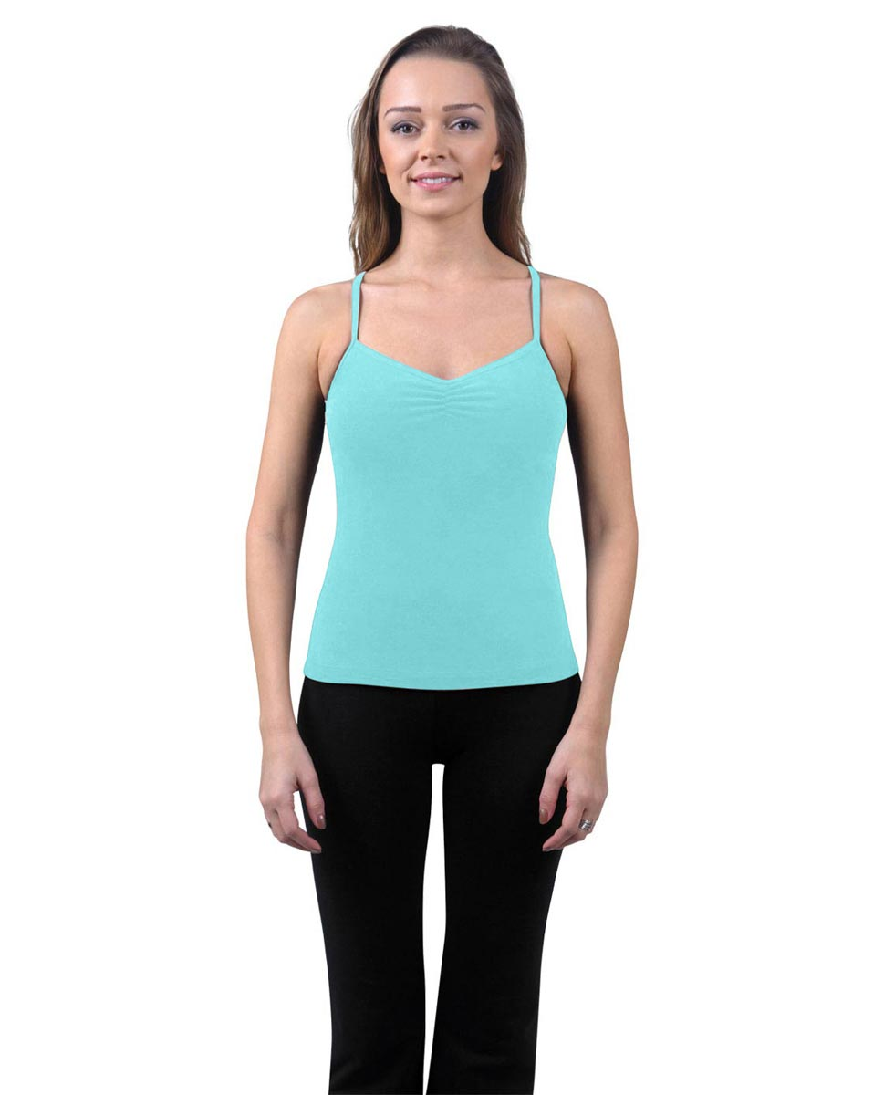 Brushed Cotton Pinched Front Camisole Dance Top Ursula AQU