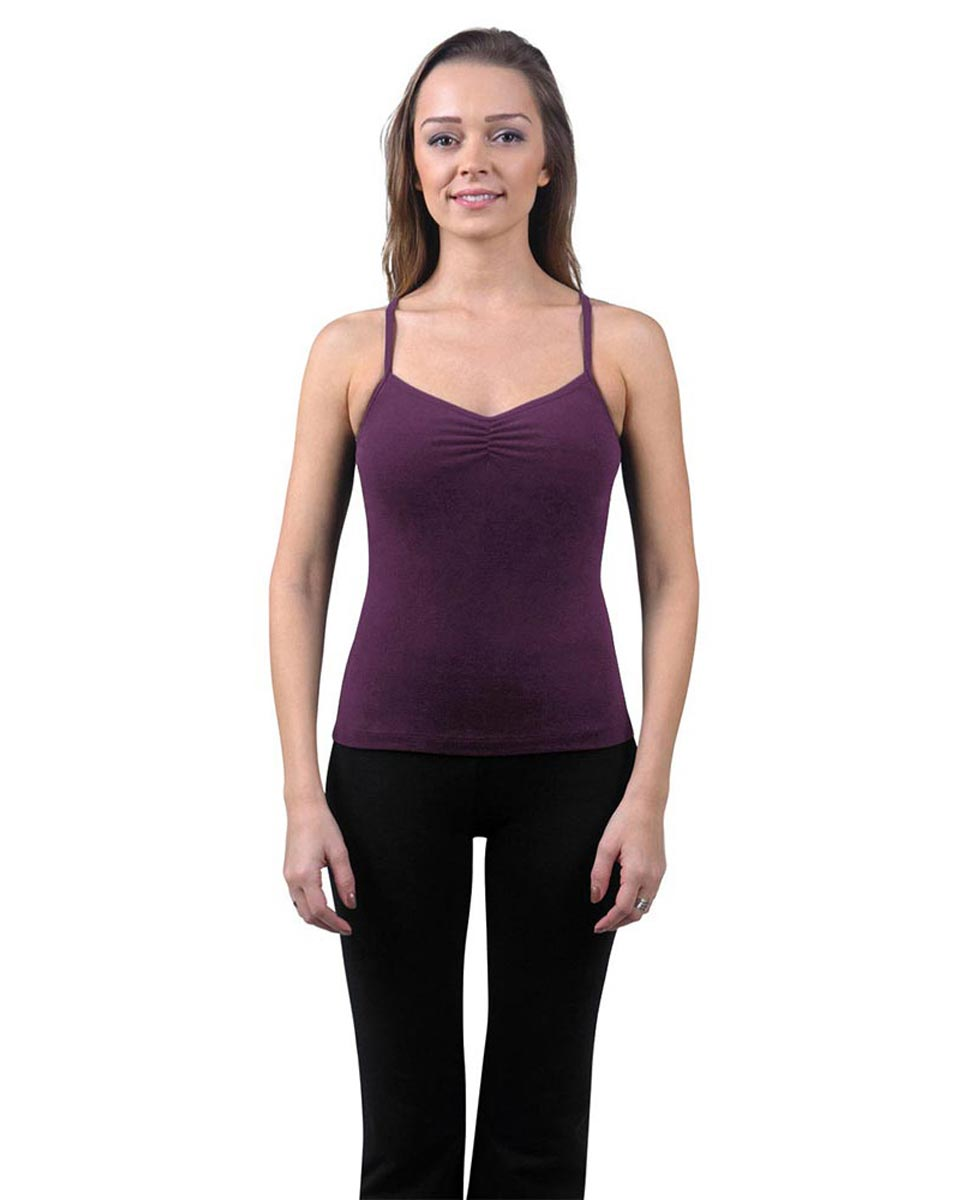 Brushed Cotton Pinched Front Camisole Dance Top Ursula AUB