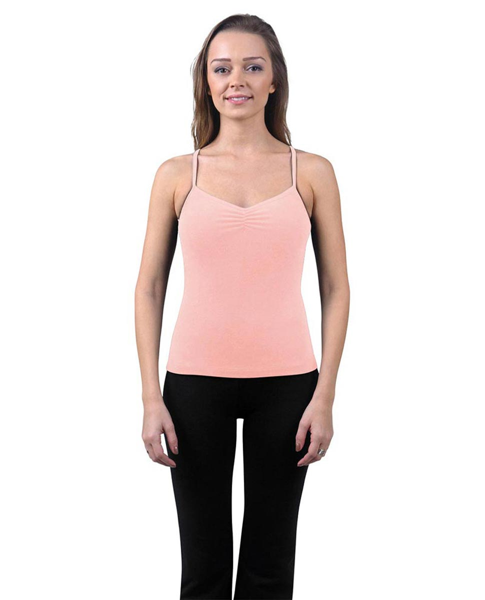 Brushed Cotton Pinched Front Camisole Dance Top Ursula BPINK