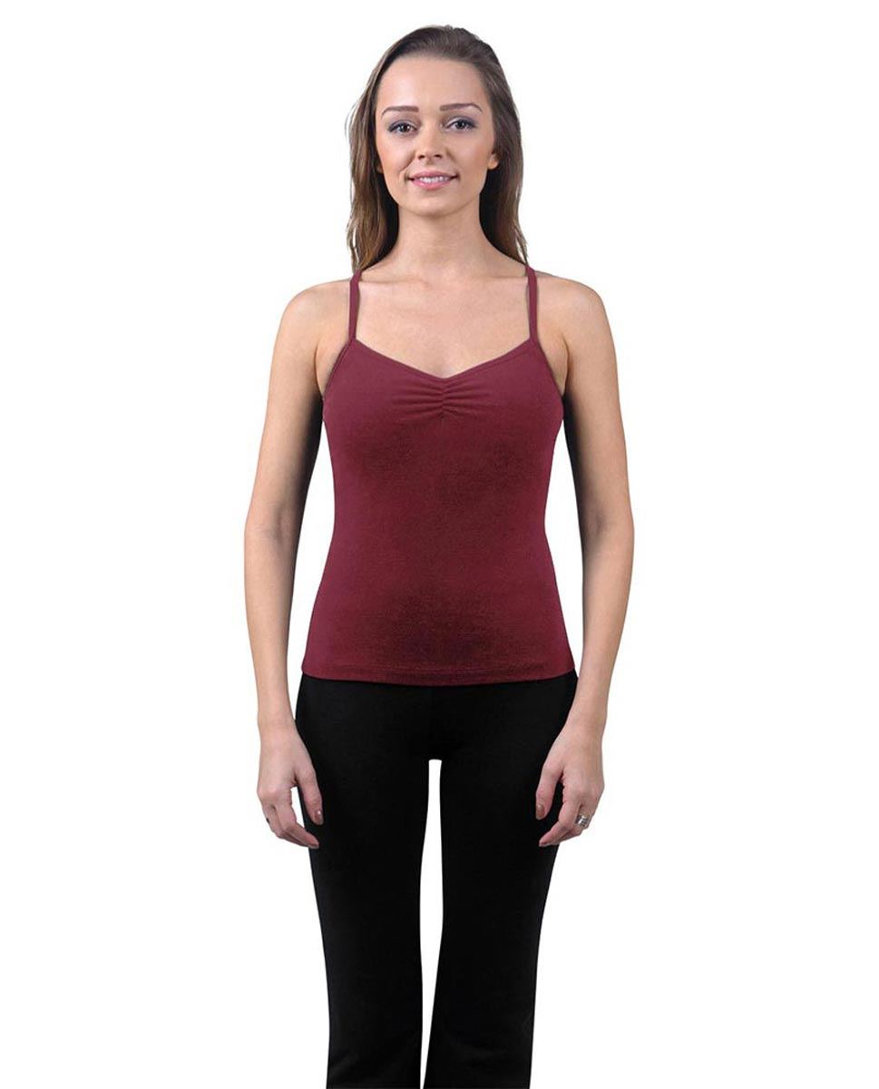 Brushed Cotton Pinched Front Camisole Dance Top Ursula BUR