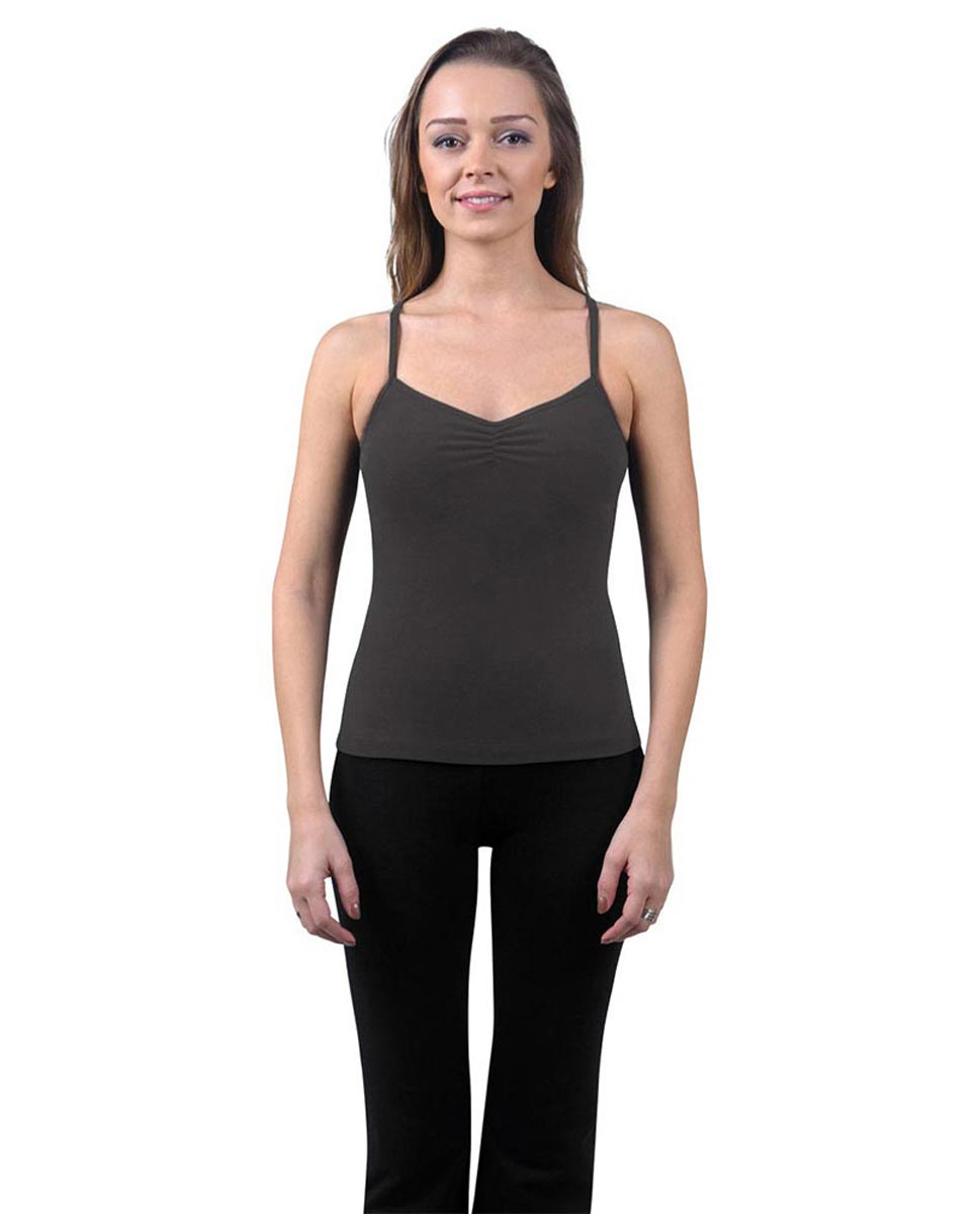 Brushed Cotton Pinched Front Camisole Dance Top Ursula DGRE