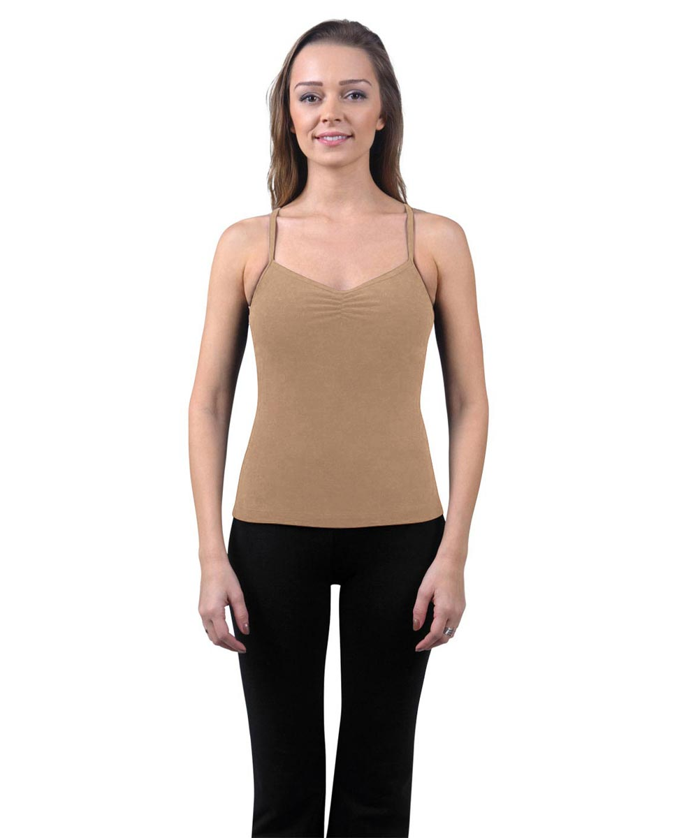 Brushed Cotton Pinched Front Camisole Dance Top Ursula DNUD