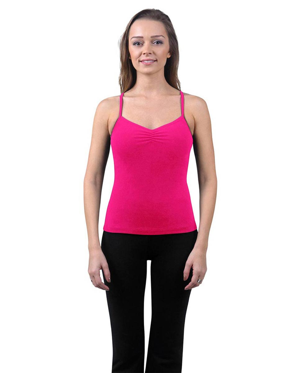 Brushed Cotton Pinched Front Camisole Dance Top Ursula FUC