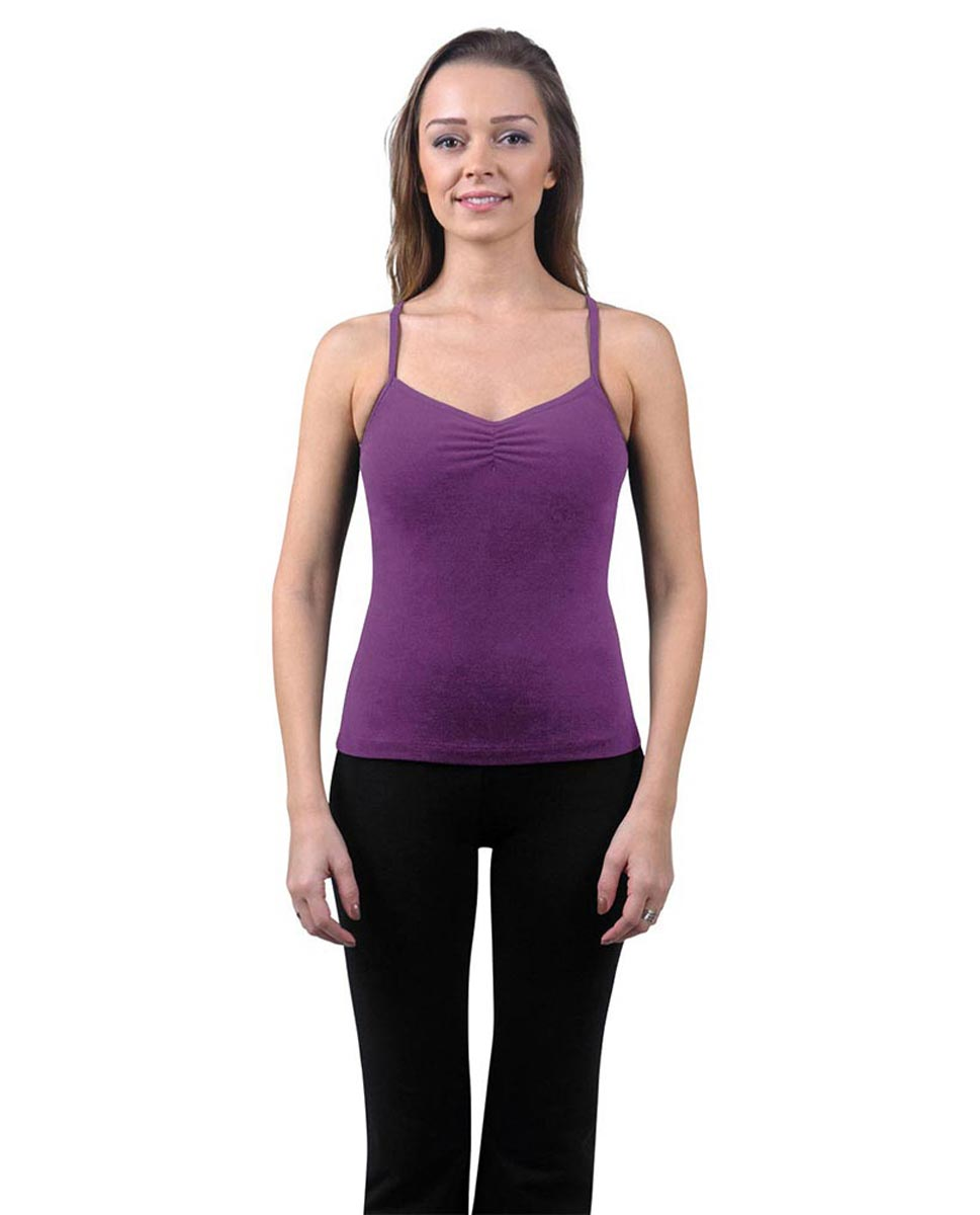 Brushed Cotton Pinched Front Camisole Dance Top Ursula GRAP