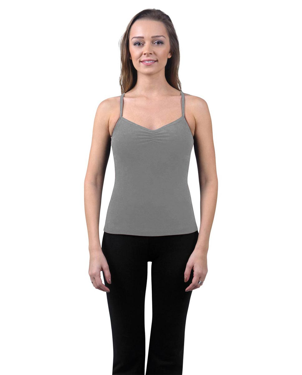 Brushed Cotton Pinched Front Camisole Dance Top Ursula GRE