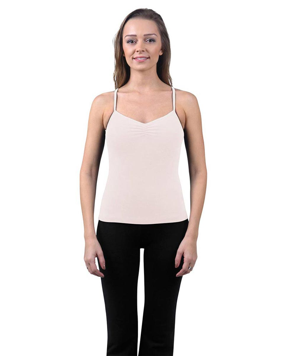 Brushed Cotton Pinched Front Camisole Dance Top Ursula LPNK