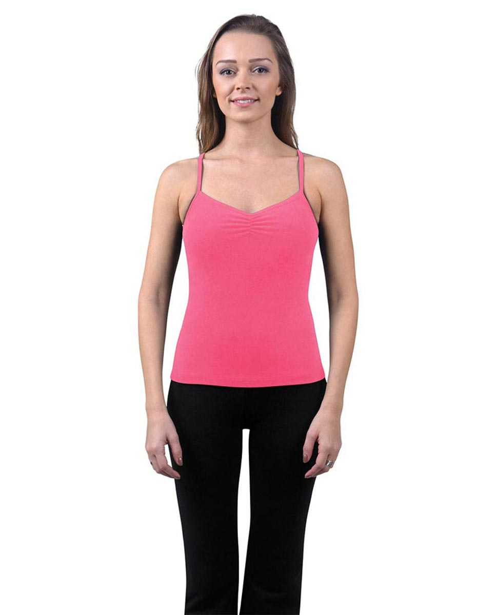 Brushed Cotton Pinched Front Camisole Dance Top Ursula ROS