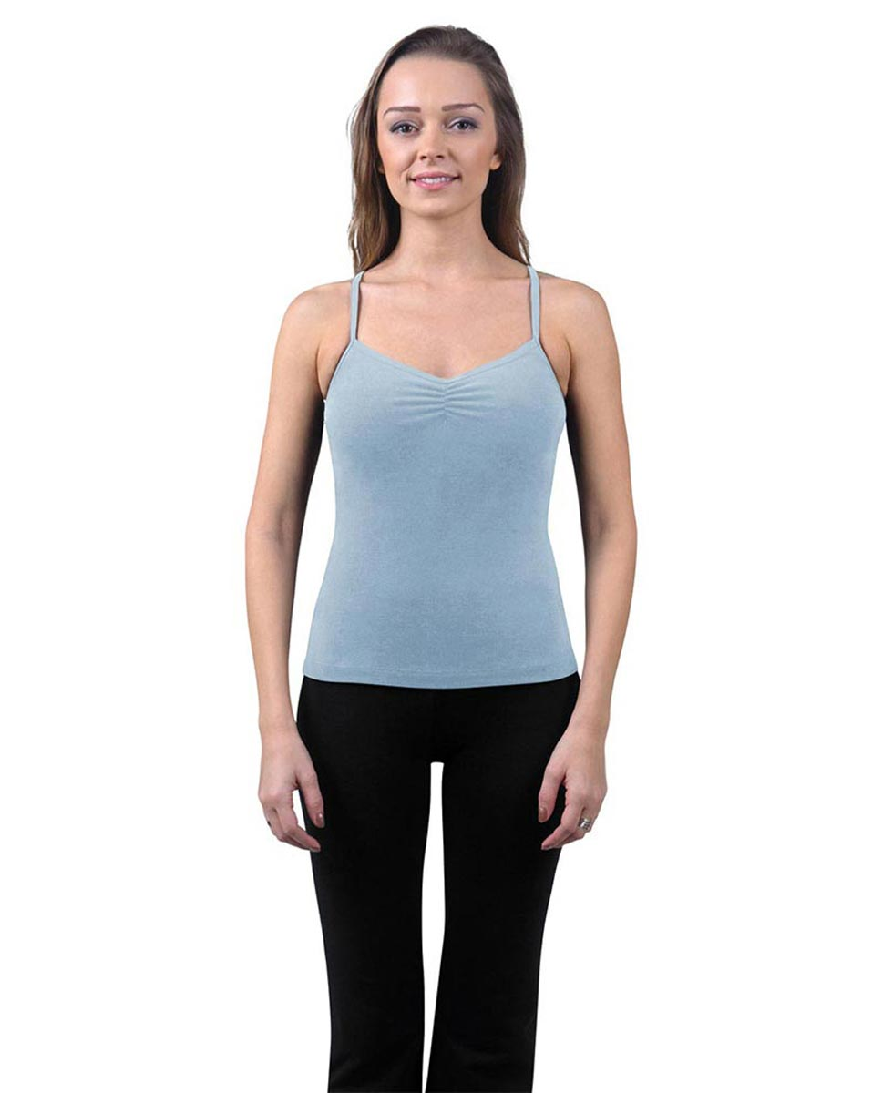 Brushed Cotton Pinched Front Camisole Dance Top Ursula SKY