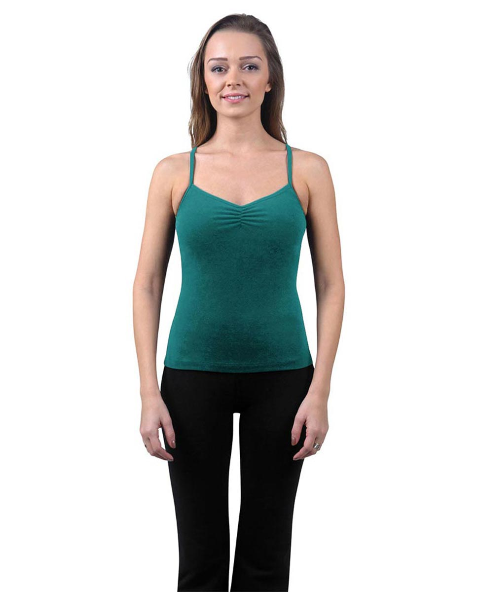 Brushed Cotton Pinched Front Camisole Dance Top Ursula TEA
