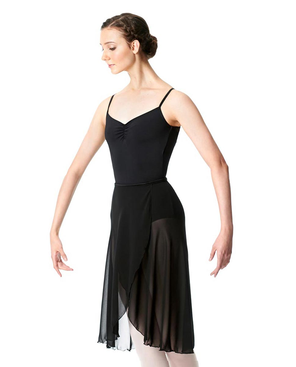 Wrap Chiffon Ballet Long Skirt Addison BLK