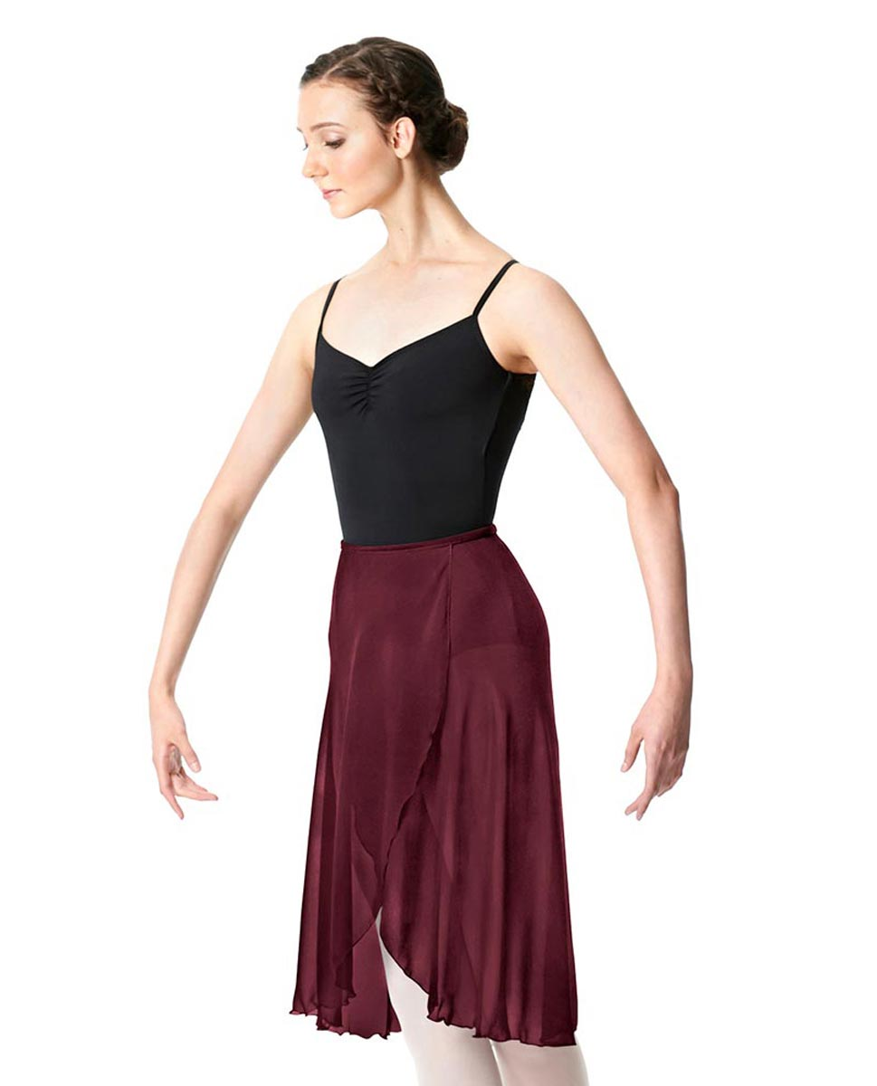 Wrap Chiffon Ballet Long Skirt Addison BUR