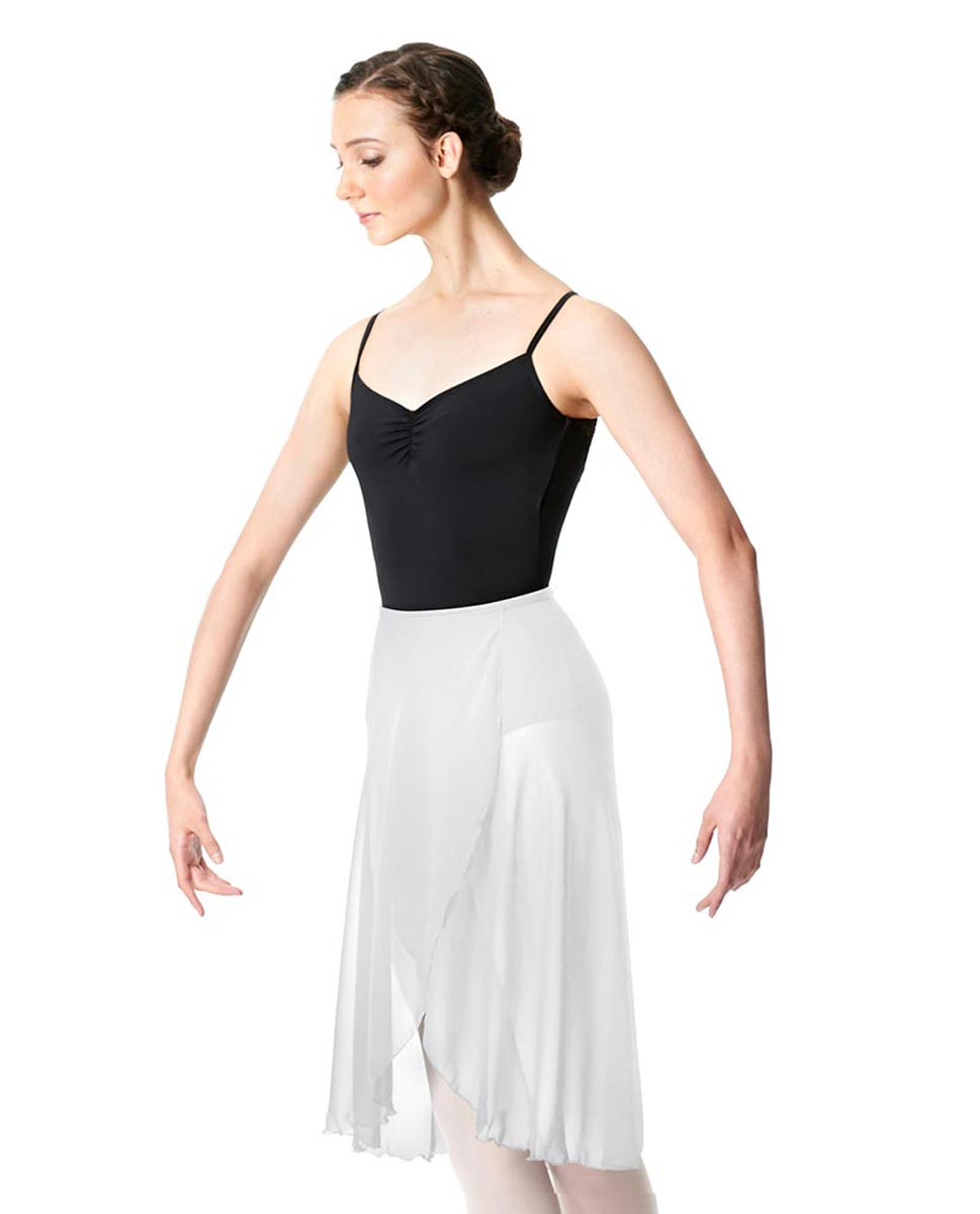 Wrap Chiffon Ballet Long Skirt Addison WHI