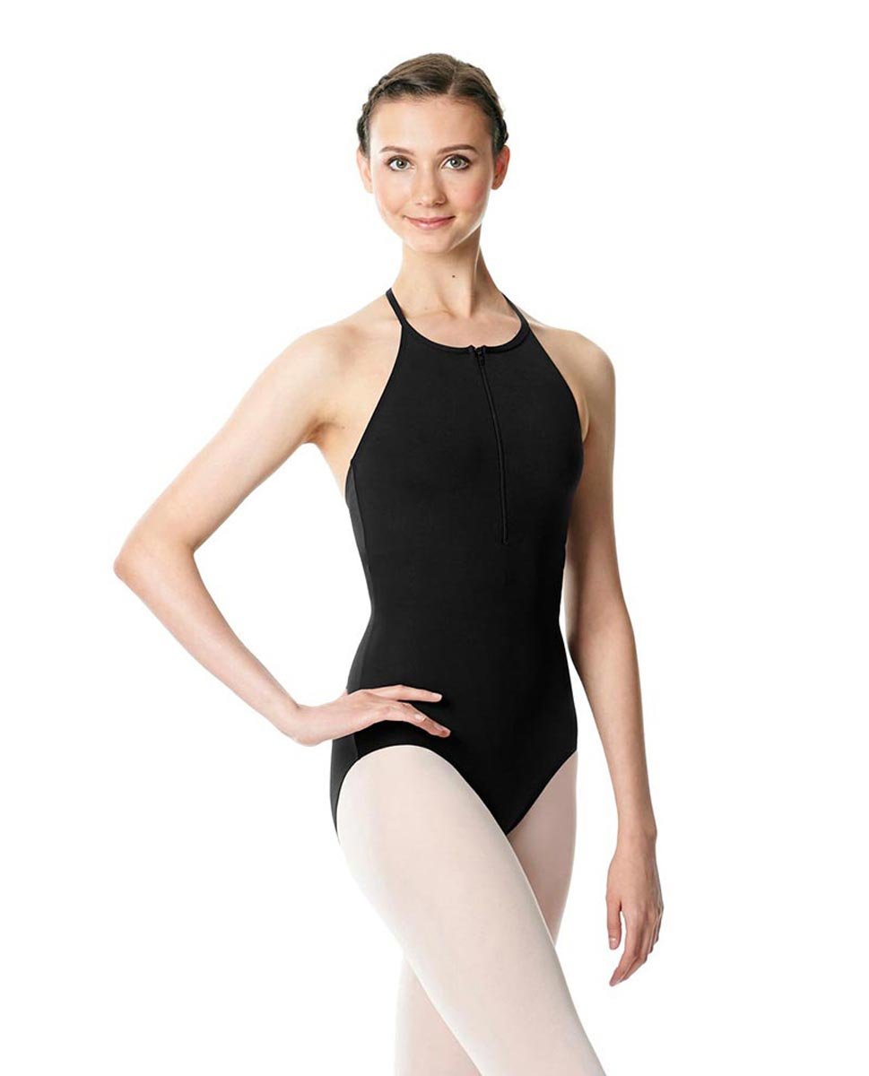 Hatler Neck Zipper Leotard Sarah BLK
