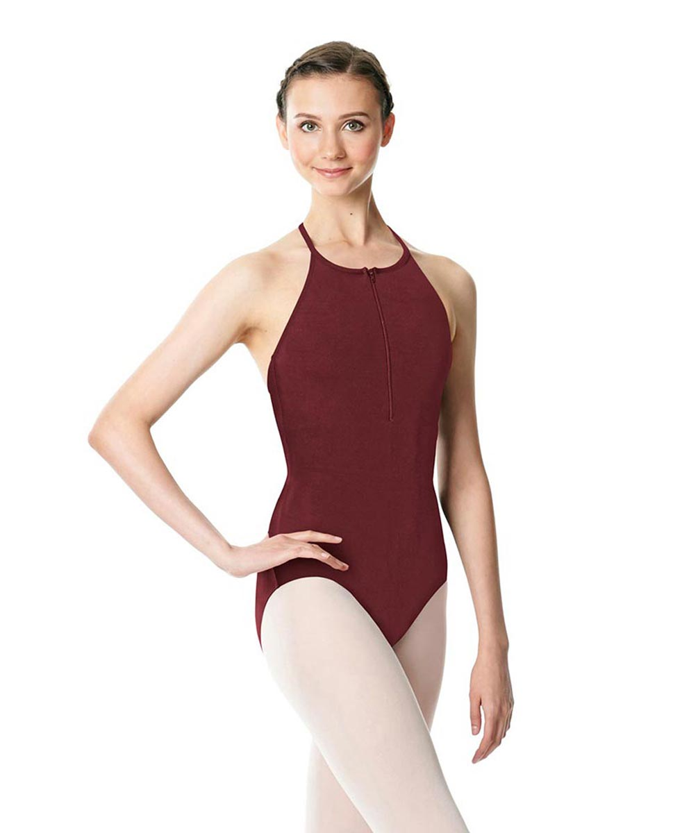 Hatler Neck Zipper Leotard Sarah BUR