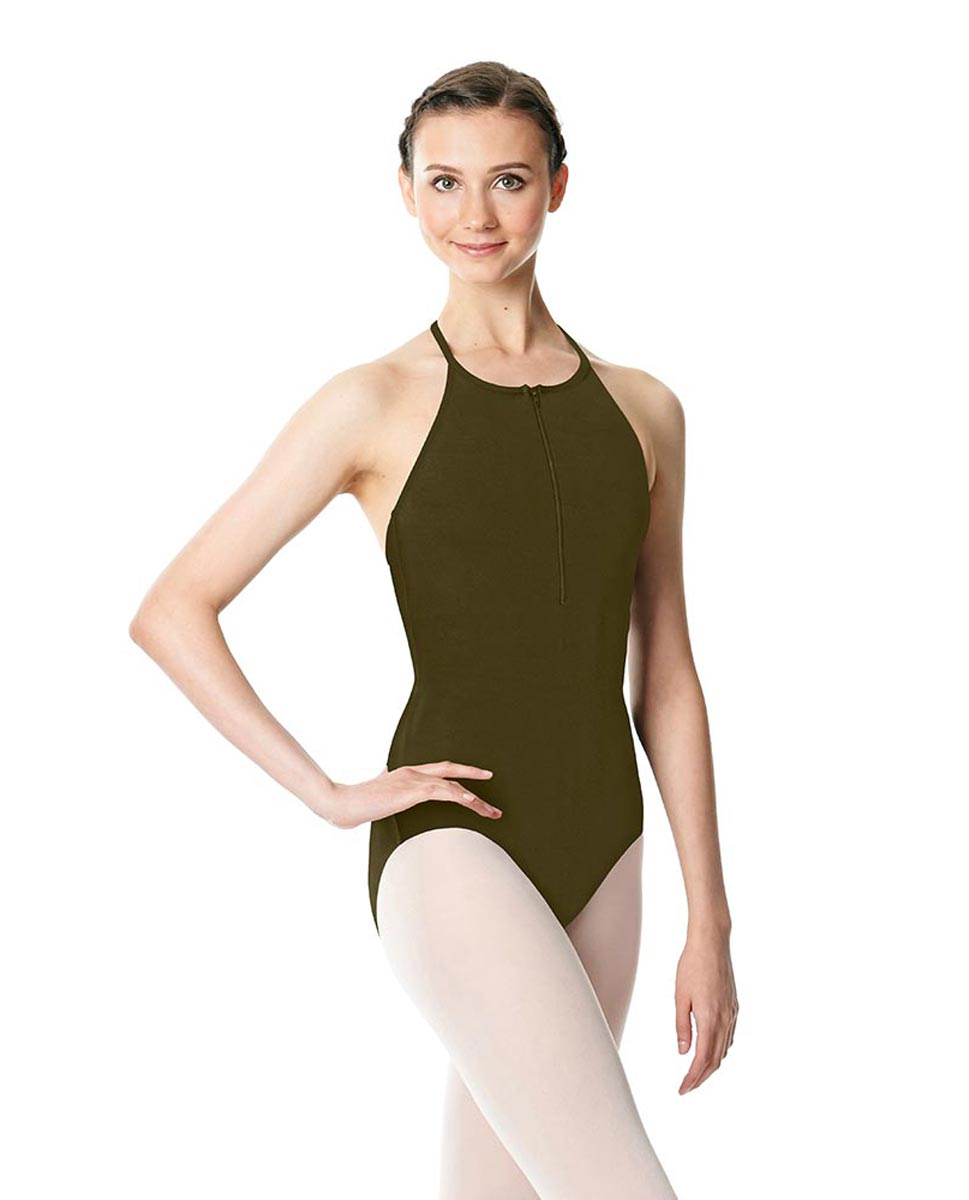 Hatler Neck Zipper Leotard Sarah KHA