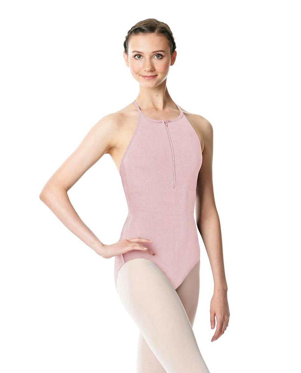 Hatler Neck Zipper Leotard Sarah PNK