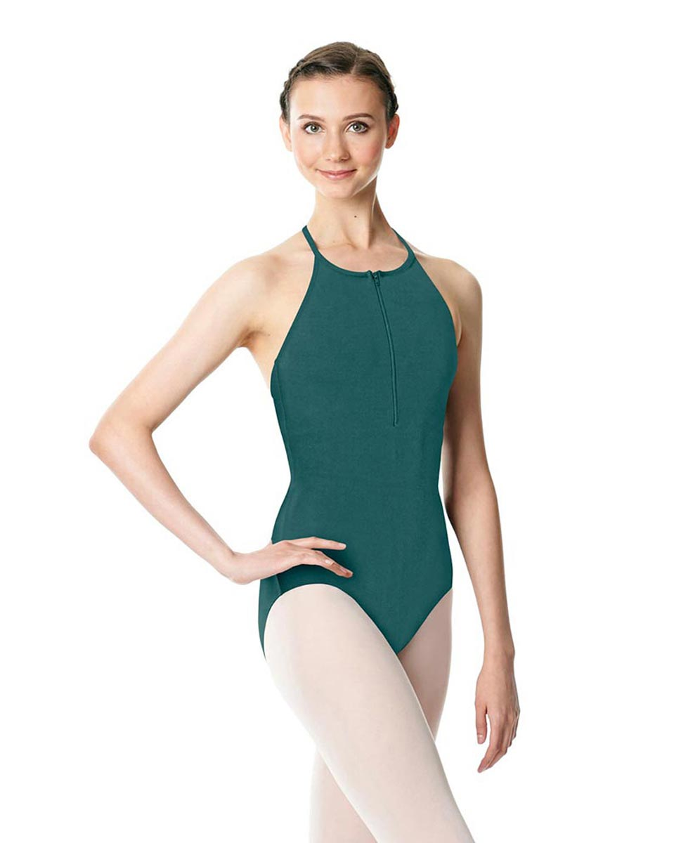 Hatler Neck Zipper Leotard Sarah TEA