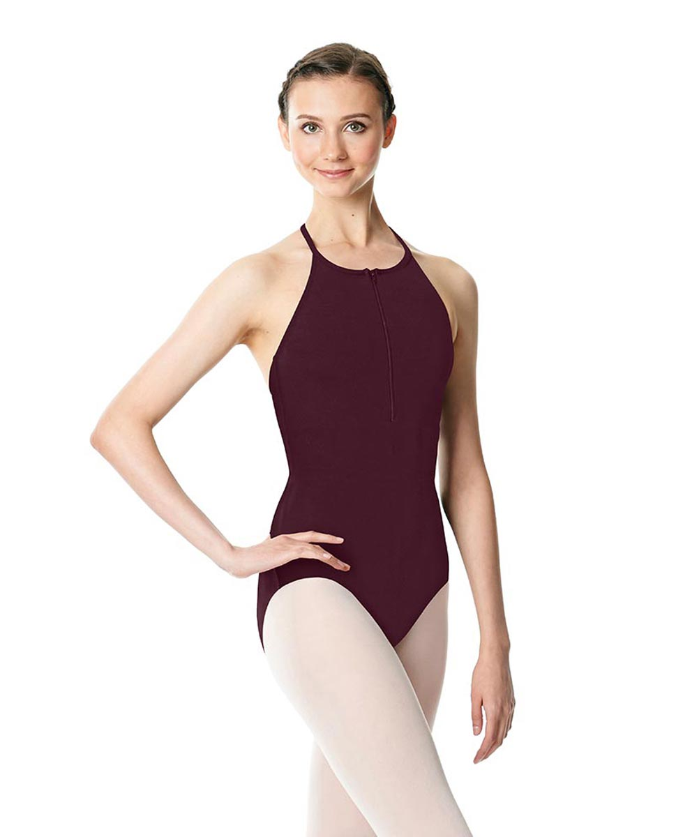 Hatler Neck Zipper Leotard Sarah WINE