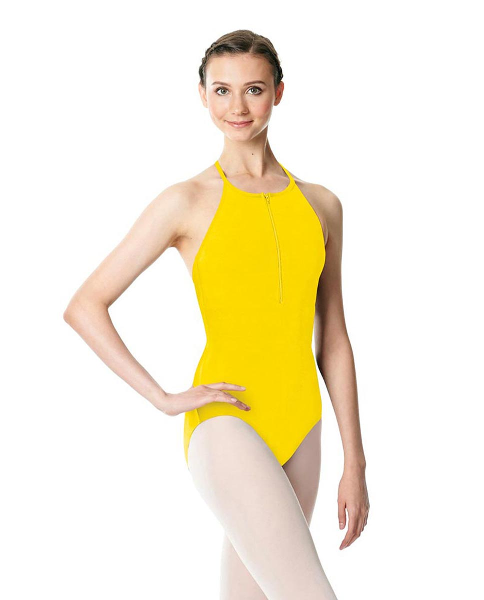 Hatler Neck Zipper Leotard Sarah YEL