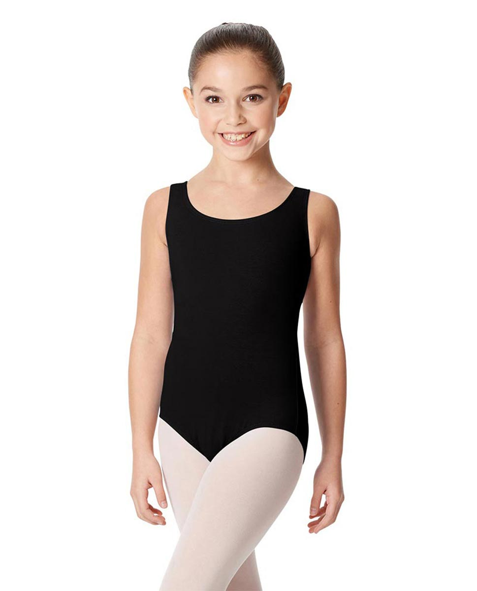 Children's Tank Cotton Leotard Charlie BLK