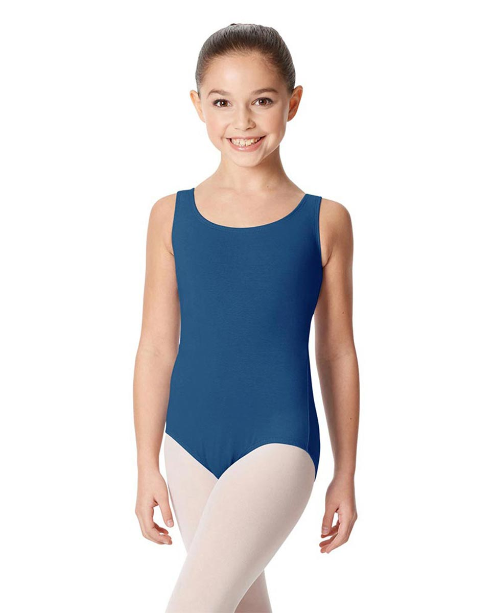 Children's Tank Cotton Leotard Charlie BLUE