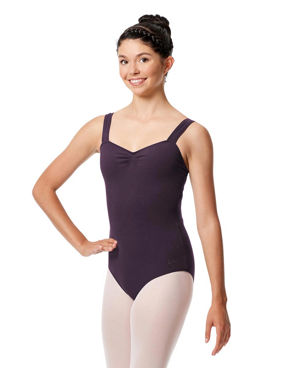 Pinch Front Leotard Constanza with Wide Straps AUB