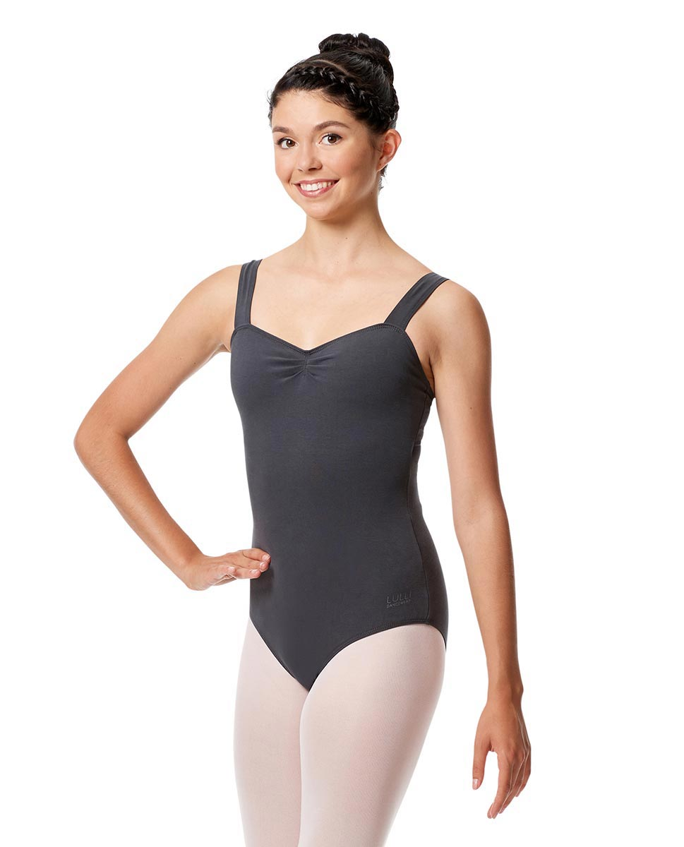 Pinch Front Leotard Constanza with Wide Straps DGRE