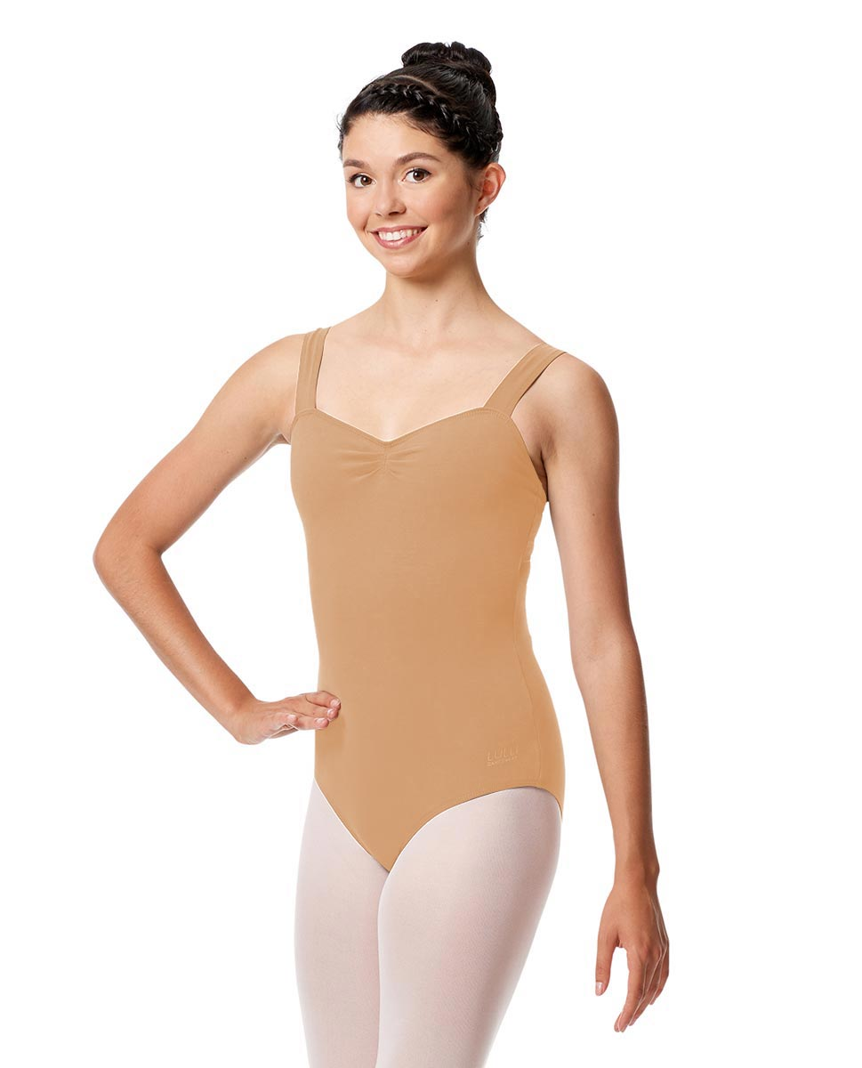 Pinch Front Leotard Constanza with Wide Straps DNUD