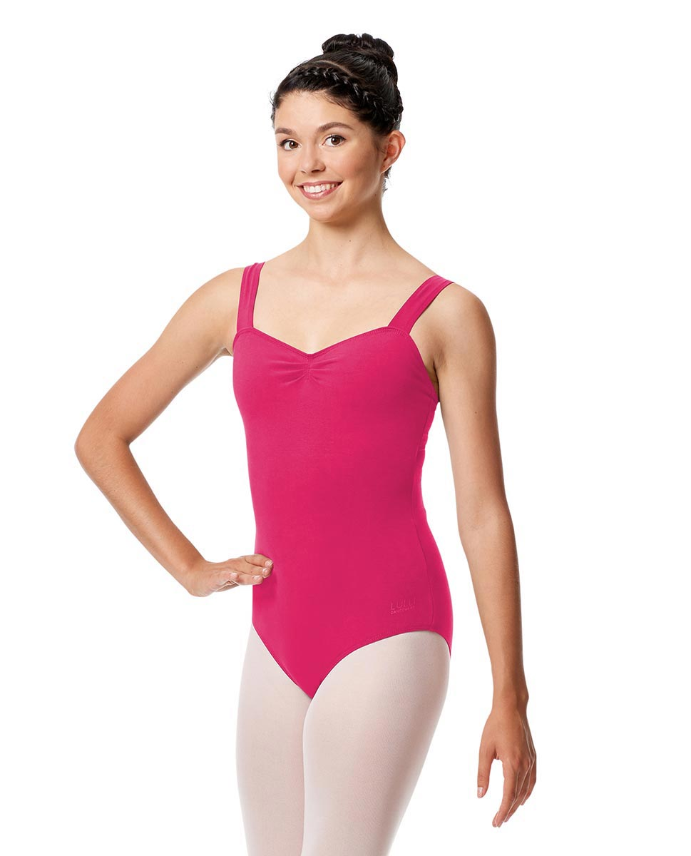 Pinch Front Leotard Constanza with Wide Straps FUC