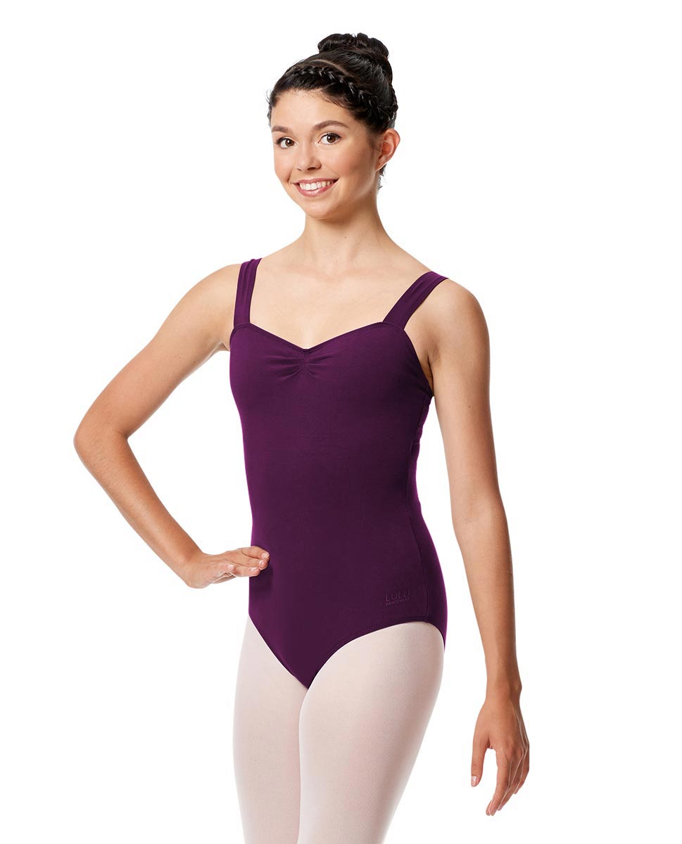 Pinch Front Leotard Constanza with Wide Straps GRAP