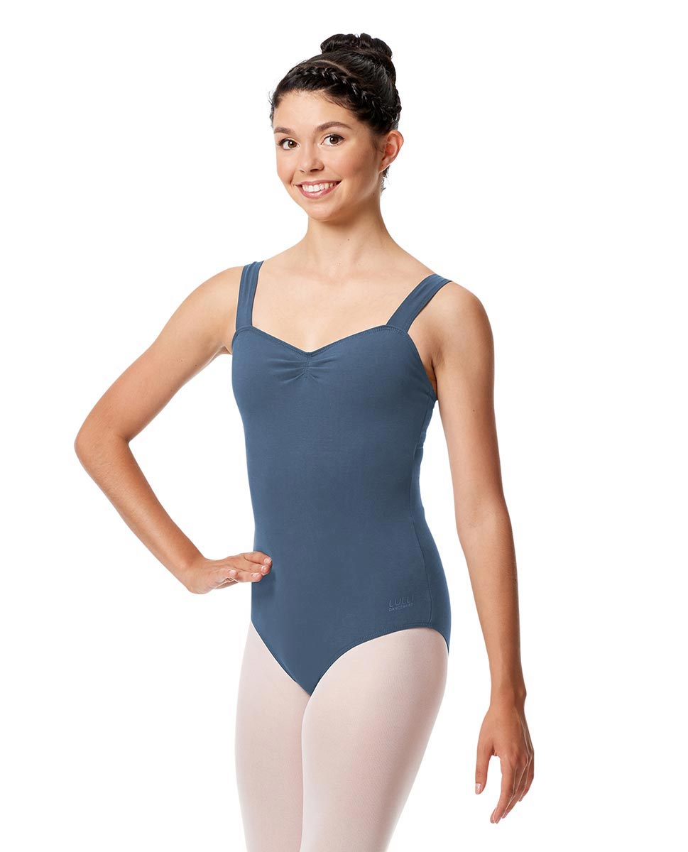 Pinch Front Leotard Constanza with Wide Straps JEA