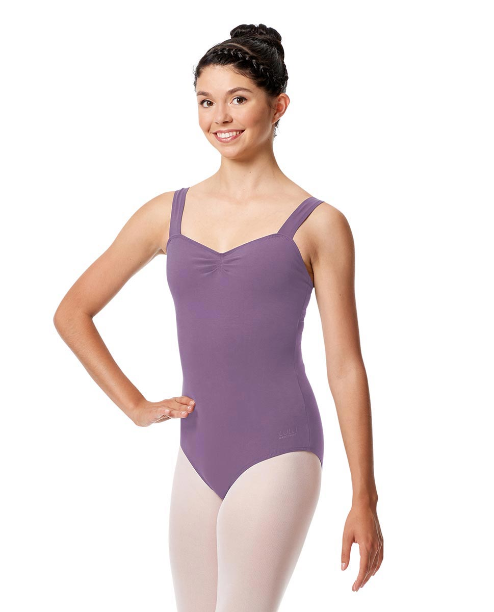 Pinch Front Leotard Constanza with Wide Straps LAV