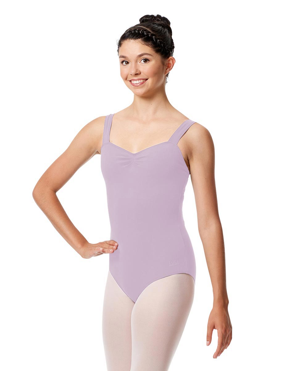 Pinch Front Leotard Constanza with Wide Straps LIL