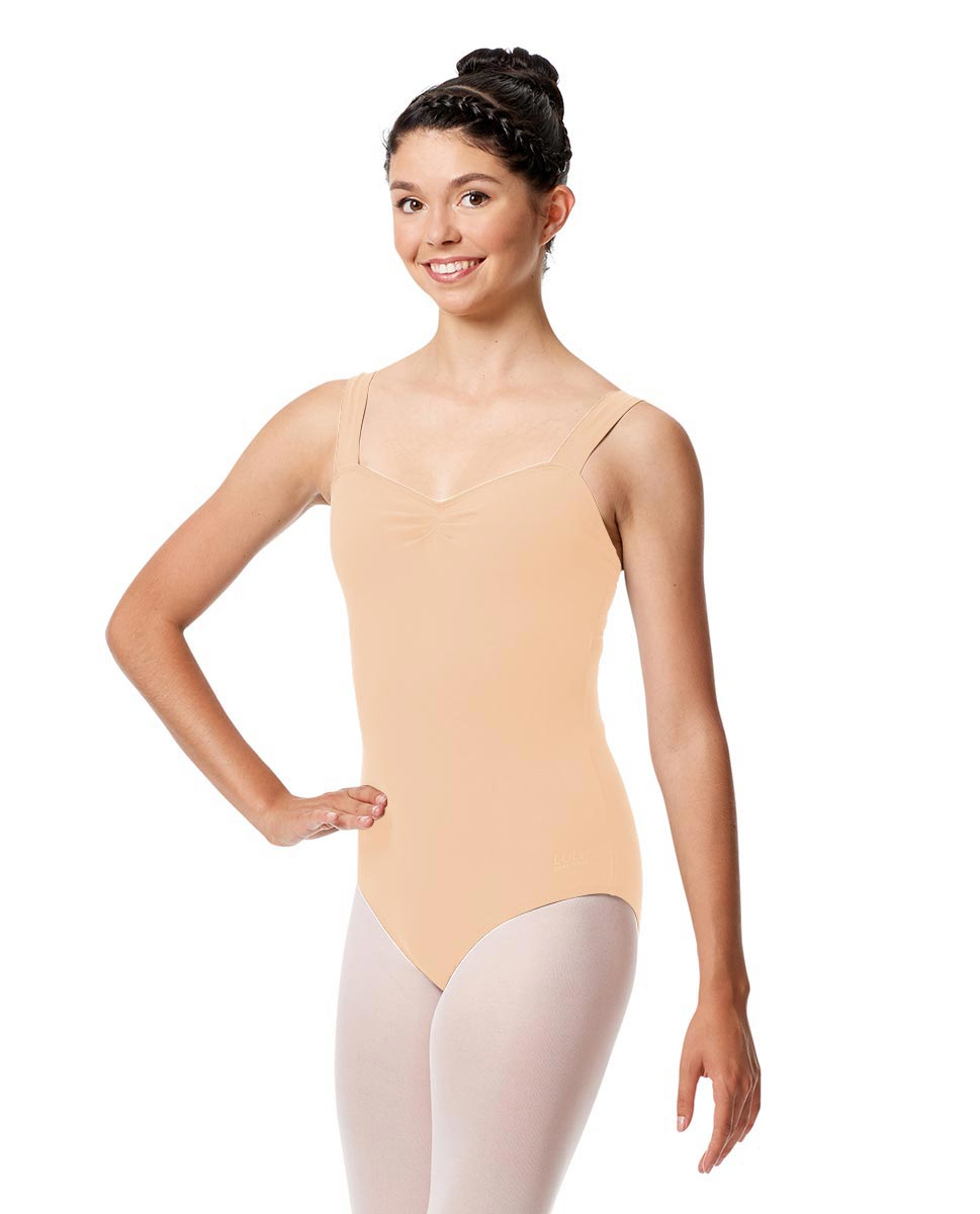 Pinch Front Leotard Constanza with Wide Straps LNUD