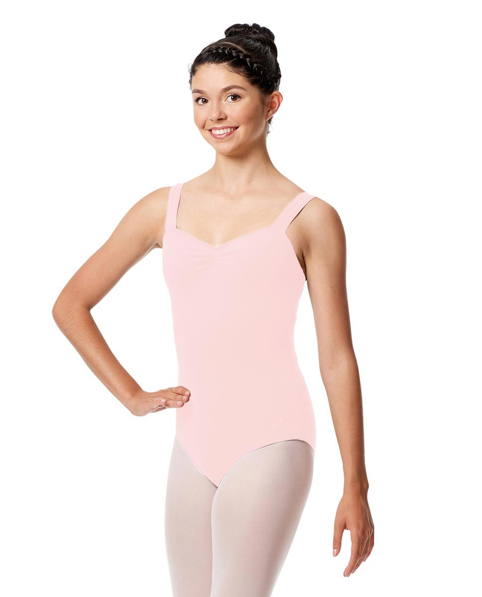 Pinch Front Leotard Constanza with Wide Straps LPNK