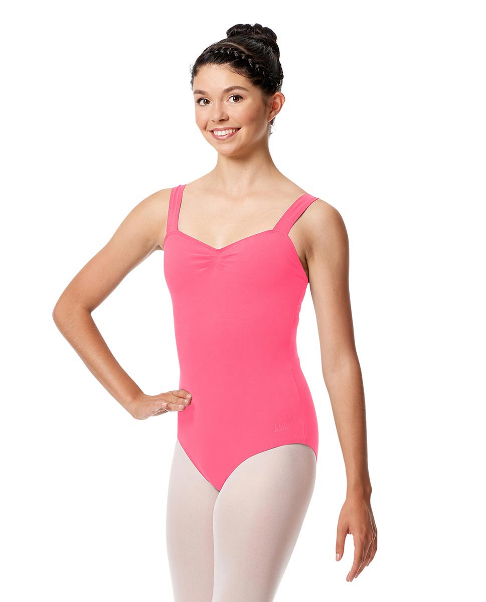 Pinch Front Leotard Constanza with Wide Straps ROS