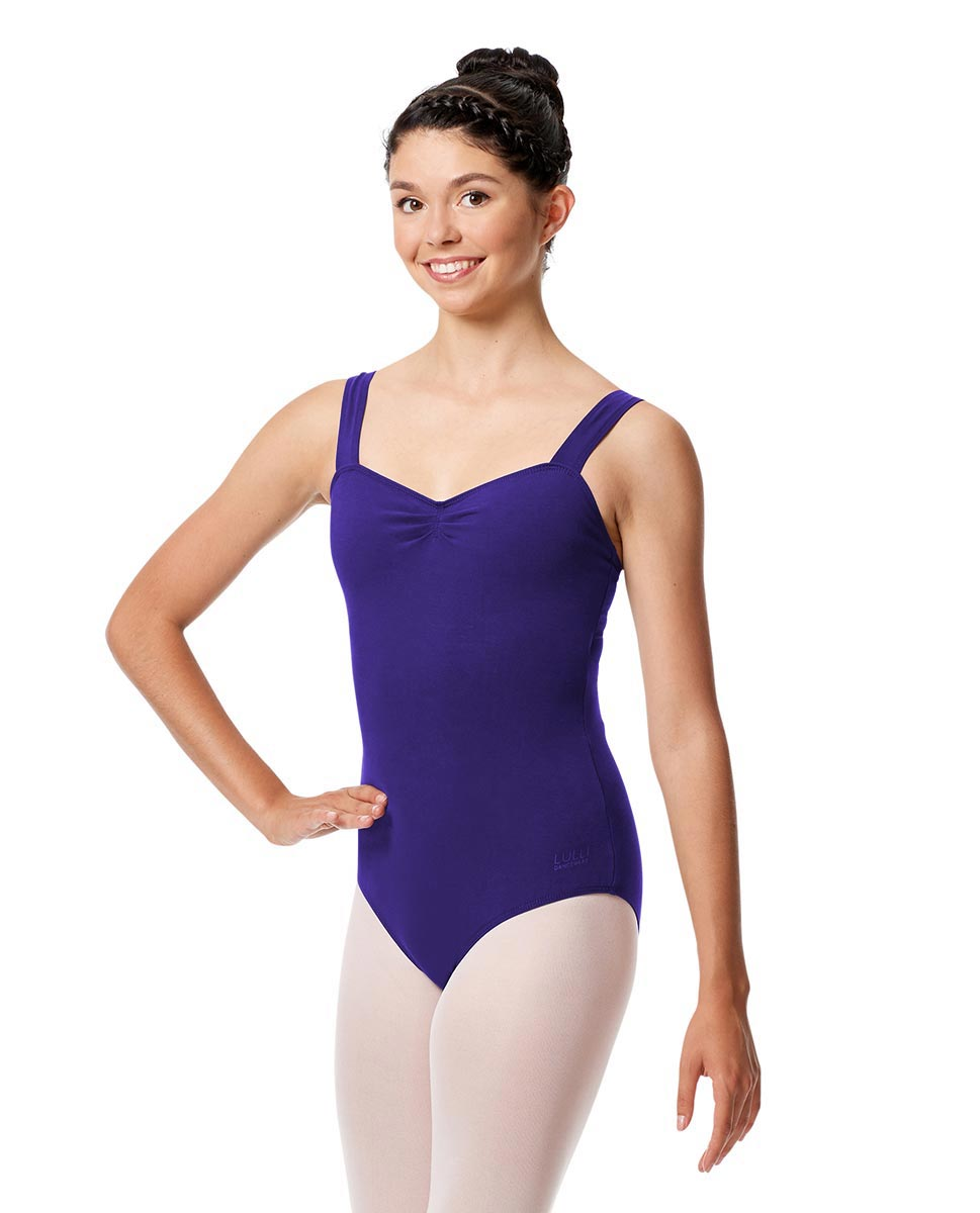 Pinch Front Leotard Constanza with Wide Straps ROY