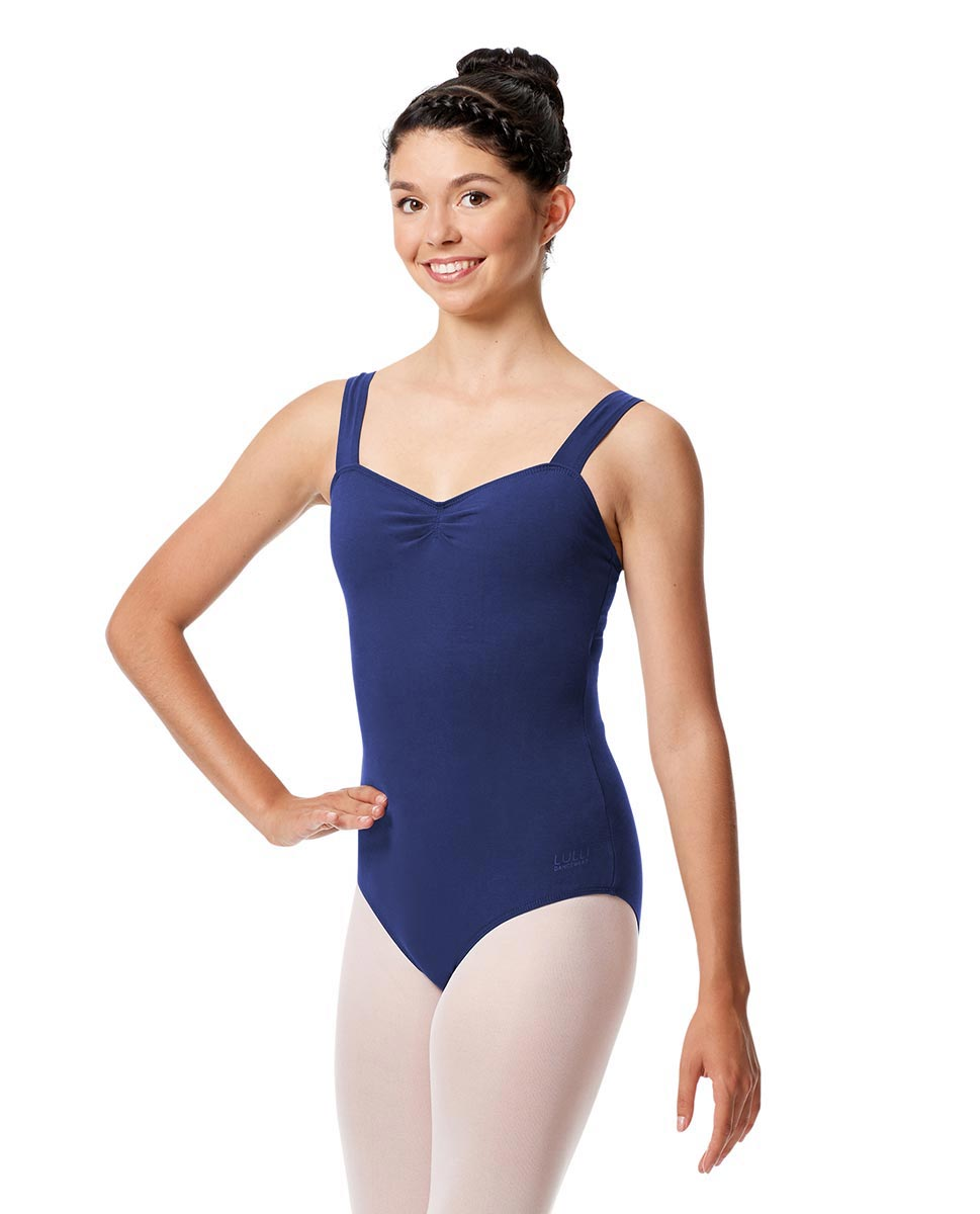 Pinch Front Leotard Constanza with Wide Straps UMA