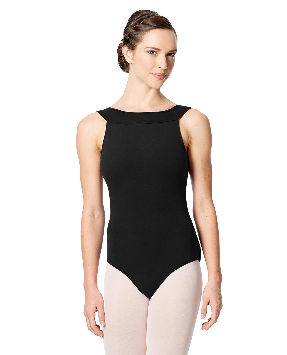 Tank Leotard Aneta with Cross Strap  BLK