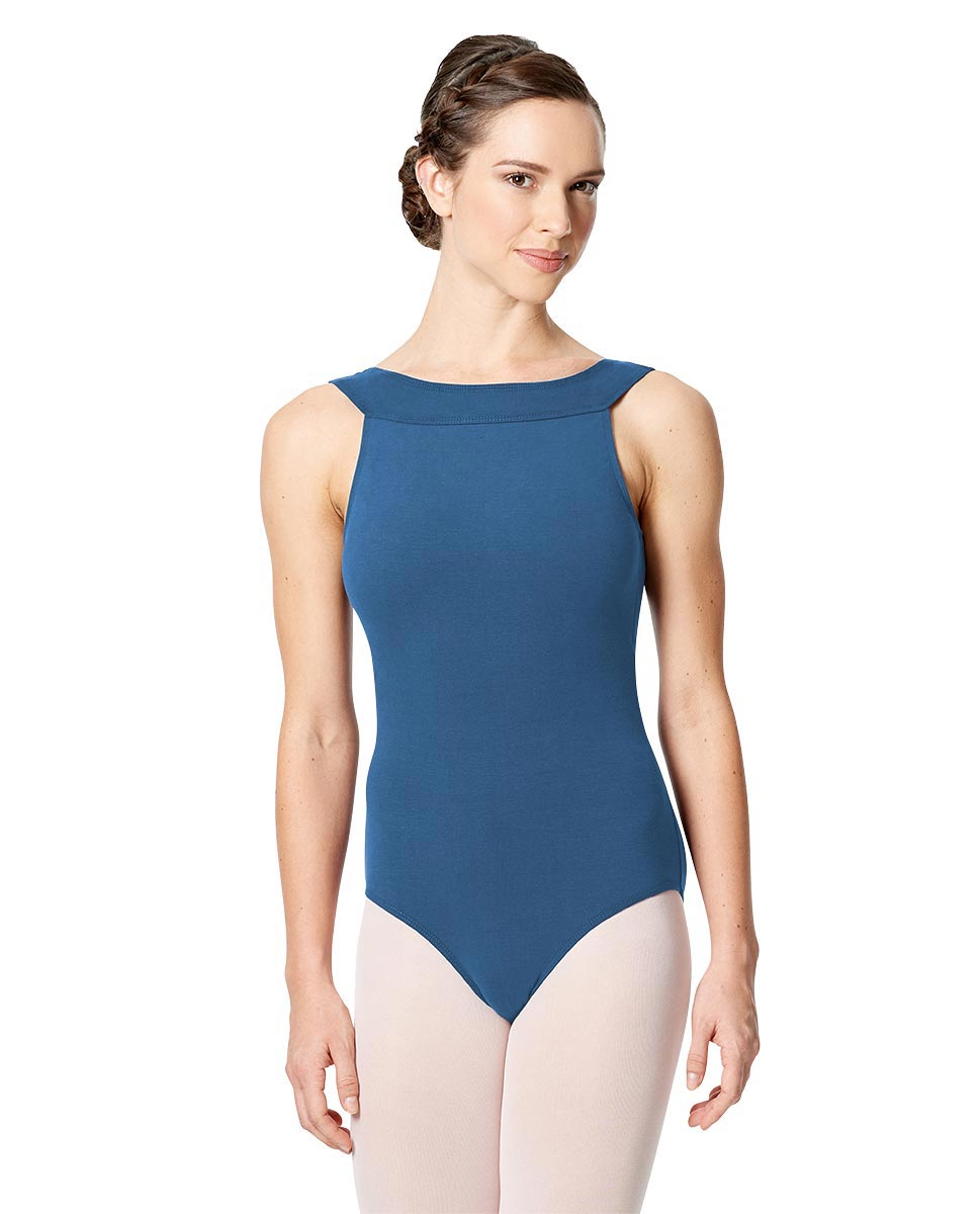 Tank Leotard Aneta with Cross Strap  BLUE