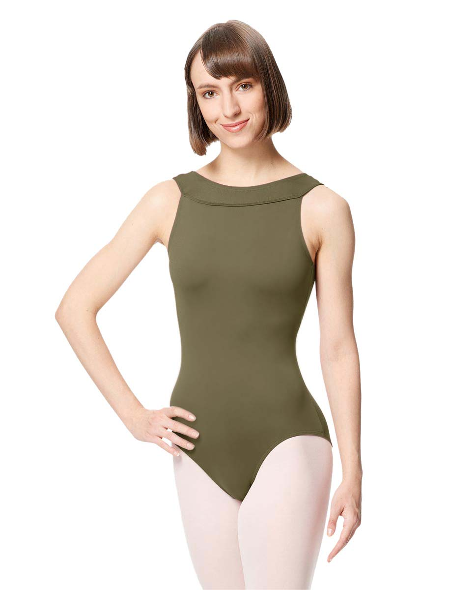 Women Microfiber Criss Cross Tank Dance Leotard Abel KHA