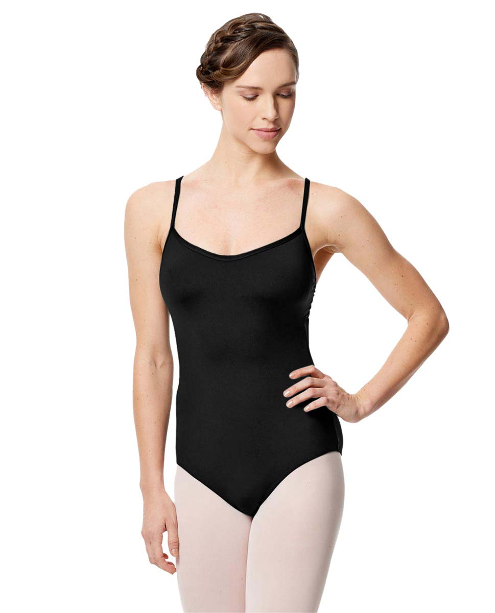 Microfiber Camisole Leotard With Removable Breast Cups Addie BLK