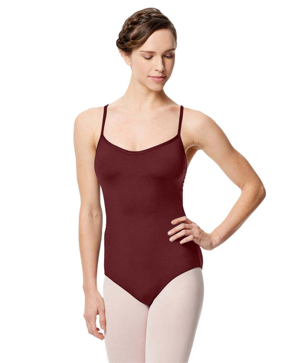 Microfiber Camisole Leotard With Removable Breast Cups Addie BUR