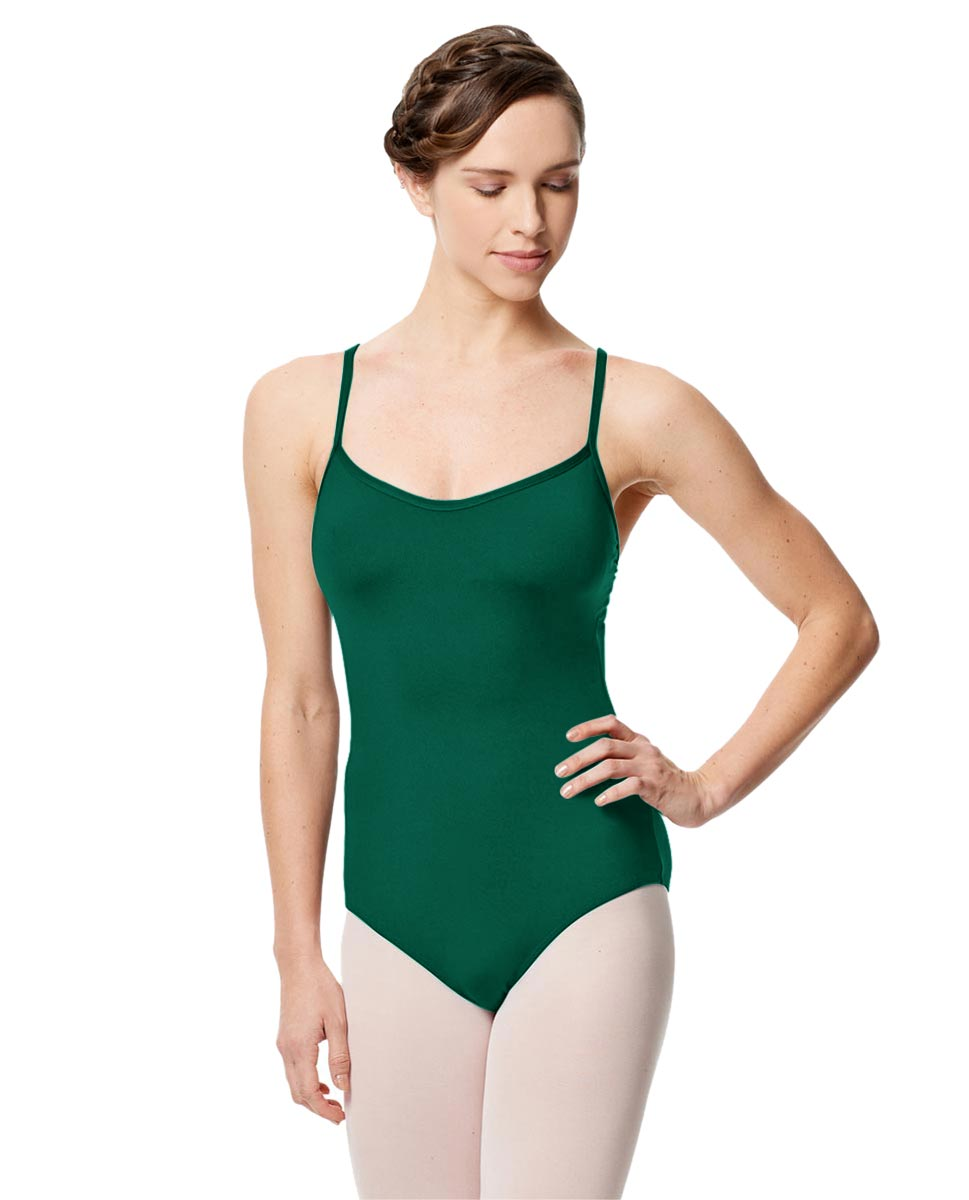 Microfiber Camisole Leotard With Removable Breast Cups Addie DGREEN