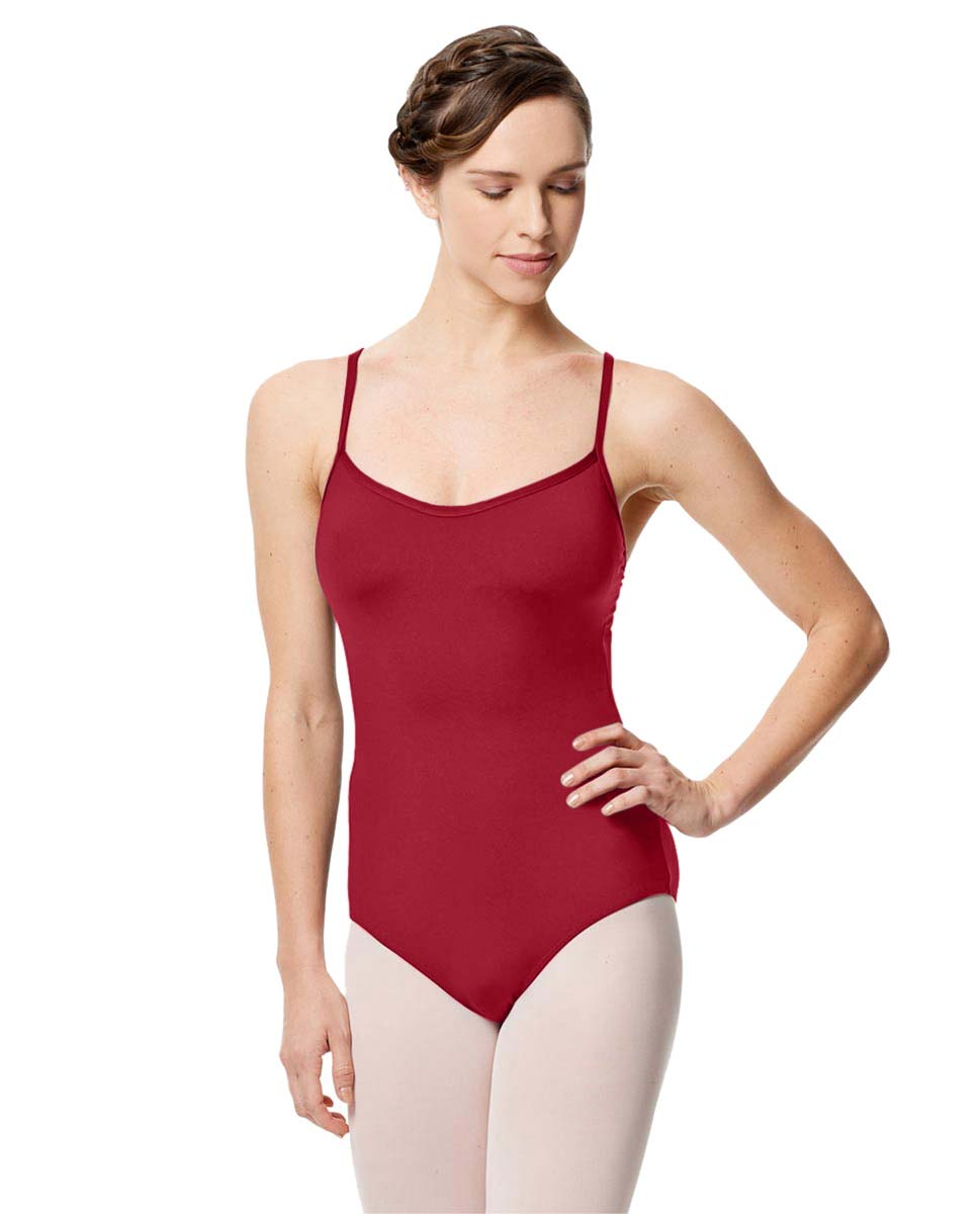 Microfiber Camisole Leotard With Removable Breast Cups Addie DRED