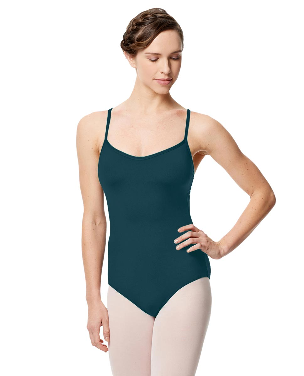 Microfiber Camisole Leotard With Removable Breast Cups Addie DTEAL