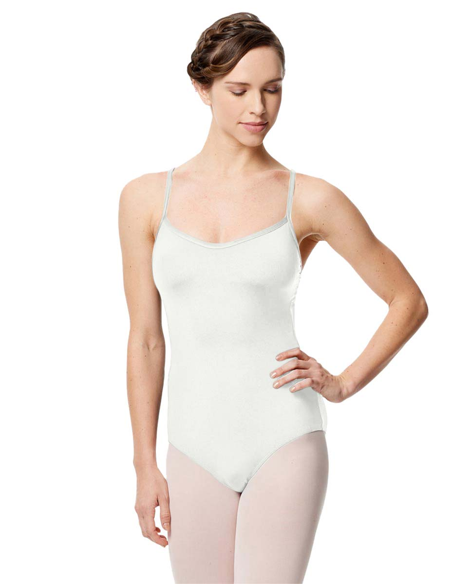 Microfiber Camisole Leotard With Removable Breast Cups Addie WHI