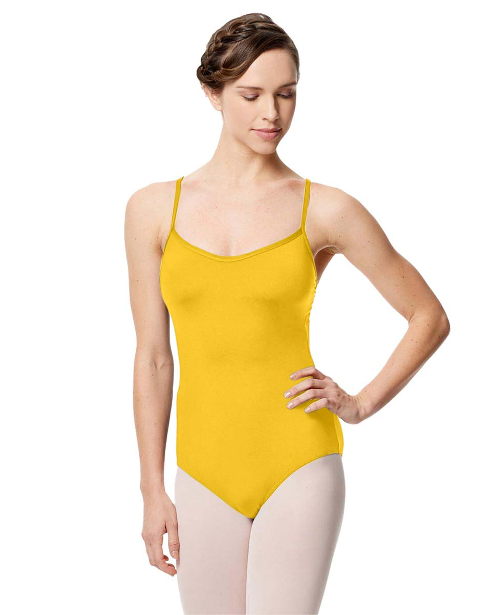 Microfiber Camisole Leotard With Removable Breast Cups Addie YEL