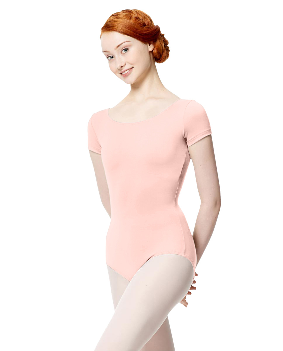 Women Microfiber Short Sleeve Leotard Abigail LPNK